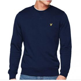 Lyle & Scott Felpa Blu Patch Logo Lyle E Scott