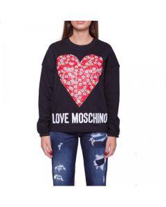 Love Moschino Felpa Girocollo Cuore Grande